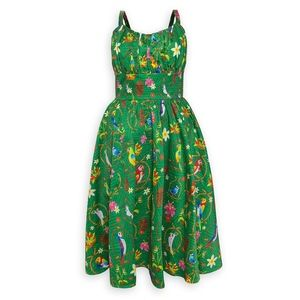 Disney Parks Retro-VTG 1950s Green Tiki Dress, M